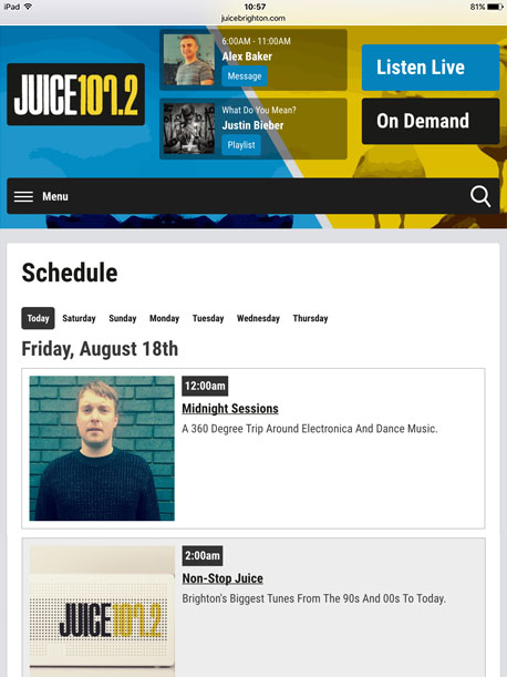 radio station website cms