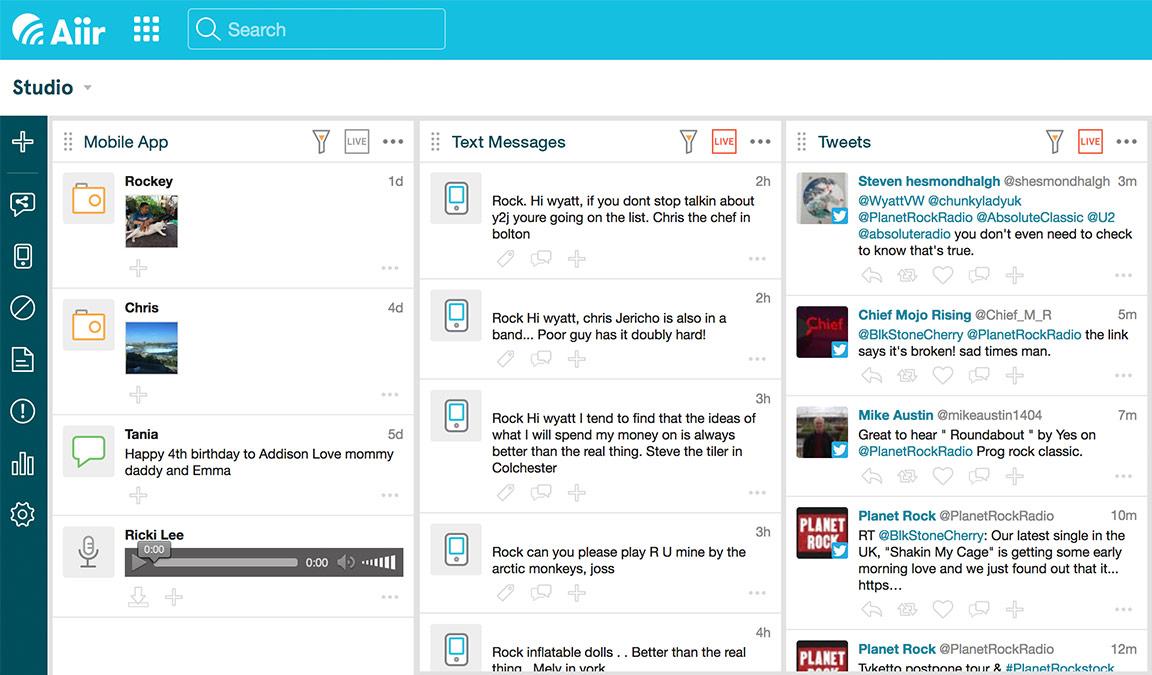 Studio Inbox and SMS - Aiir